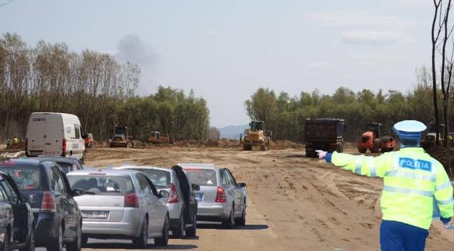 Poliția a pus parolă la intrarea pe Autostrada Moldova!