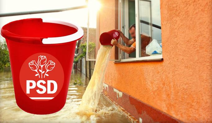 Ai primit găleată roșie în campanie? Acum scoate apa din casă cu ea, că pentru asta era!