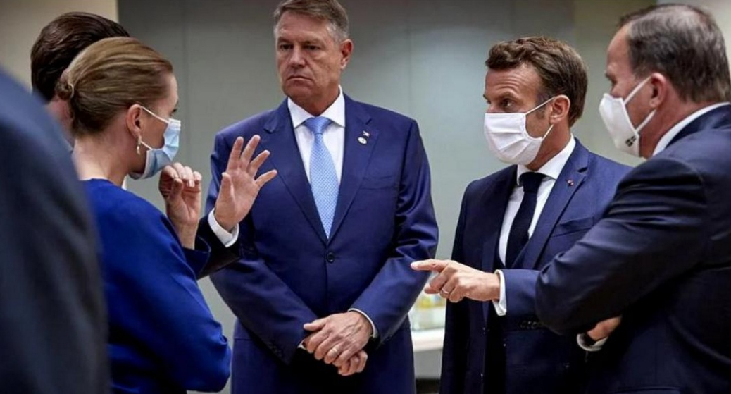 """Iohannis explică de ce nu a purtat mască la Bruxelles: """"Masca nu e obligatorie când taci!"""""""