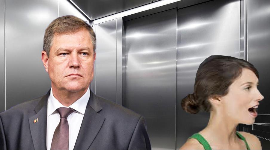 Iohannis şi-a angajat liftieră la un lift cu comenzi vocale!