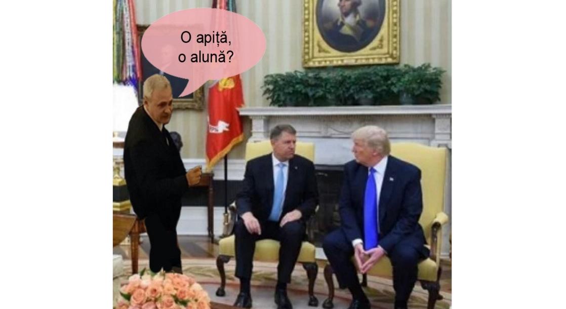 Iohannis, invitat de Trump la Casa Albă. Chelnerul nu poate să meargă, are contract pe 3 ani jumate cu Rahova