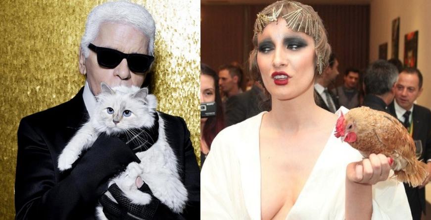 Iulia Albu vrea să-și mărite găina cu pisica milionară a lui Karl Lagerfeld!