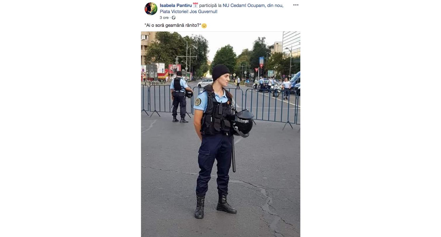 """Vești bune: Jandarmerița s-a întors """"la servici""""! Aveți grijă de ea, că ai ei sunt cam proști"""