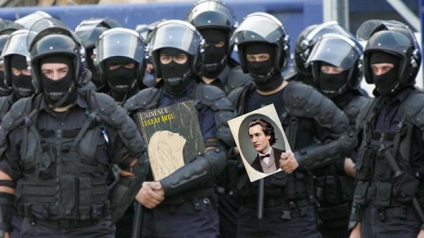 Jandarmii au descins la clanul Sadoveanu și au recitat din Eminescu!