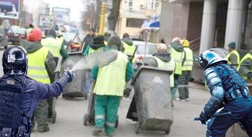Jandarmii lui Carmen Dan au atacat niște gunoieri crezând că sunt Vestele Galbene!
