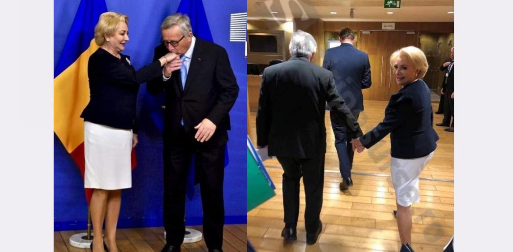 Juncker a exagerat cu țuica de prună și ne-a răpit-o pe Viorica!