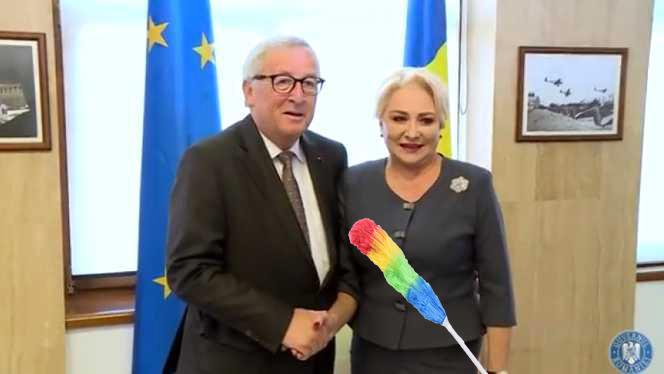"""Veorica, mândră: """"Domnul Juncker m-a felicitat că ca președinte UE am închis 90 de dosare și le-am șters coperțile de praf!"""""""