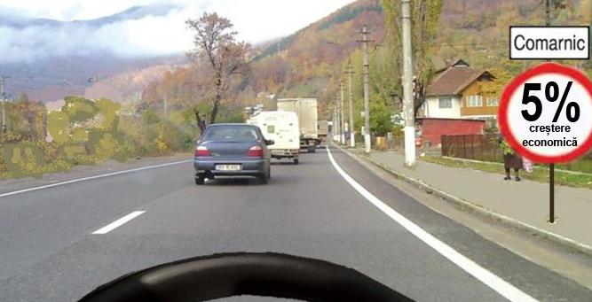 Pe șoselele din România a fost pusă limită de creștere economică, să nu se facă vreun accident, Doamne ferește!