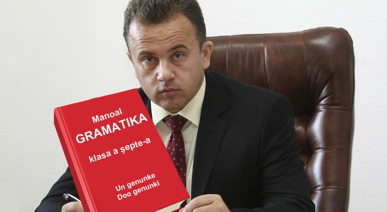 Liviu Pop a scos Manoalul de Gramatik pentru klasa a șepte-a!