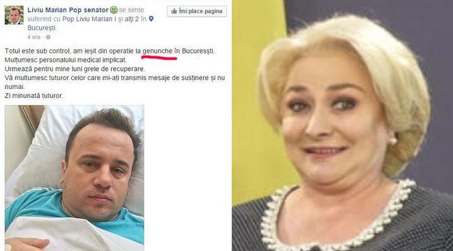Azi e Ziua Limbii Române. Pe Liviu Pop îl doare genunchele și pe Viorica imuoglobila!