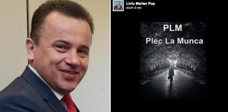 Liviu Pop a Plecat La Muncă. Lucrează înPLM (ParLaMent)