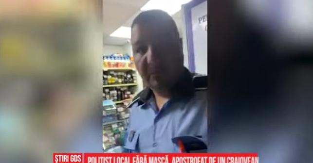 """Garcea din Craiova: """"Am intrat în magazin fără mască fiindcă eram în timpul liber!"""" Nu mai angajați polițişti fără măcar 4 clase!"""