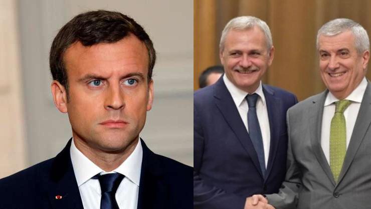 PSD-ALDE l-a suspendat peMacron! Tăriceanu, președinte interimar al Franței și Olguța ministră du tramvai!