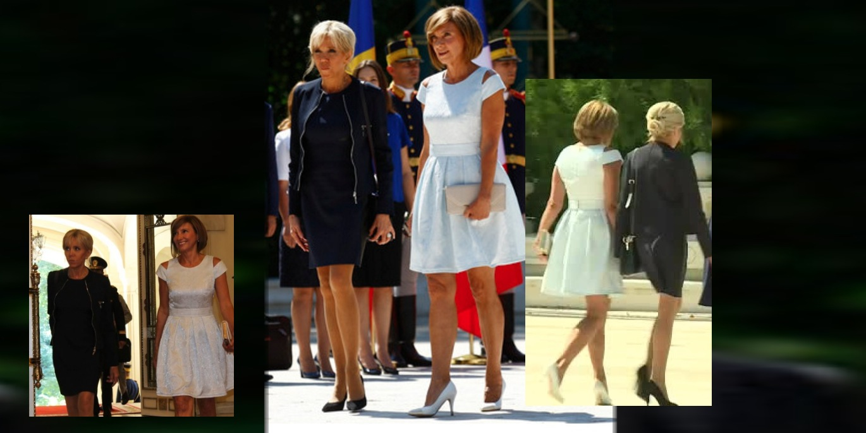 Doamnele Macron și Iohannis, cât pe ce să nu fie primite la Muzeul Satului pentru că nu aveau decolteu!