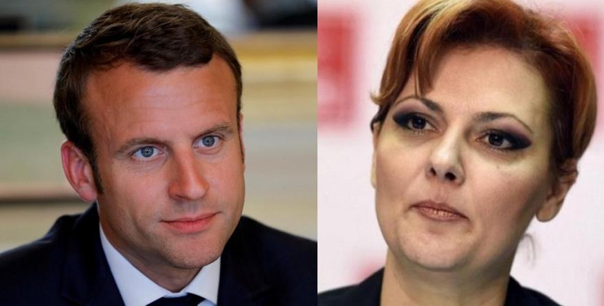 """Olguța îi răspunde lui Emmanuel Macron: """"Les morții de ta mer!"""""""