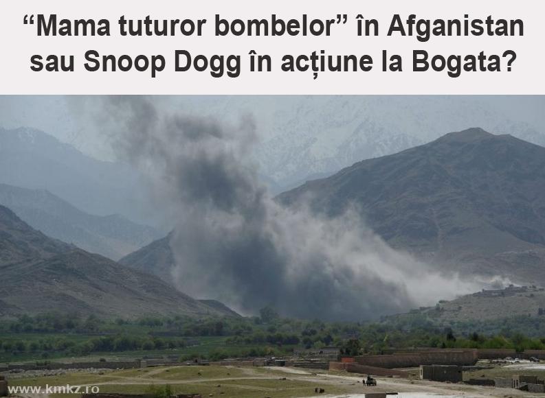 Atenție! Imaginile cu mama tuturor bombelor din Afganistan sunt false