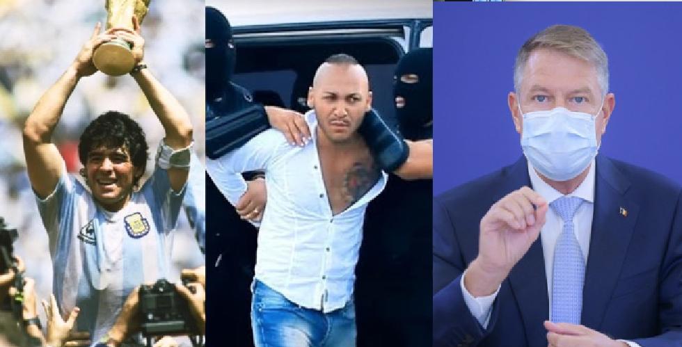 """Ce zi: a murit marele Maradona, a fost arestat Dani Mocanu, iar Iohannis a zis: """"președintele nu trebuie să fie un mut!"""""""