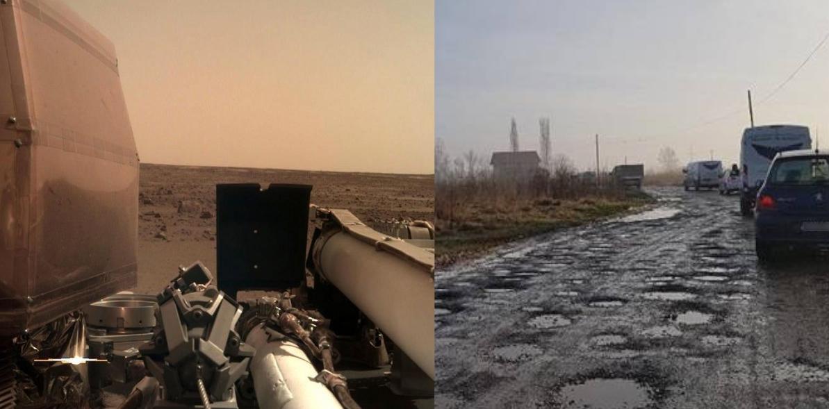 Sonda InSight a transmis primele imagini de pe Marte: arată mai bine decât în Teleorman!