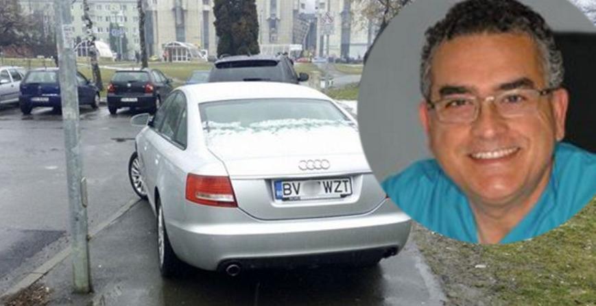 Șocant! Un medic din Brașov și-a pus la mașină un număr normal în loc de unul cu DOC sau MED