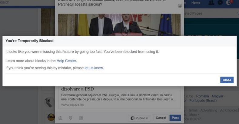 PSD-ul blochează conturi ca să nu mai puteți posta despre proteste!