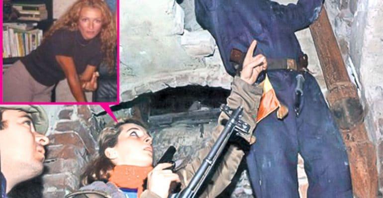 Mihaela Rădulescu cu pistolul la Revoluția din 1989! (La aia de la 1848 nu a fost fotografiată)