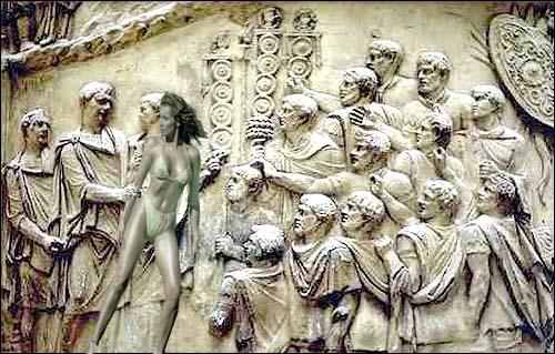 Mihaela Rădulescu apare pe Columna lui Traiancând e felicitată de împăratul Romei pentru notele de la bac!