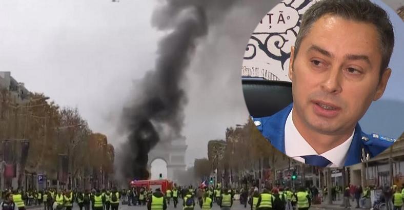 """Jandarmeria Română critică intervențiile de la Paris:""""În loc să-i bată pe ăia pașnici, ei izolează huliganii!"""""""
