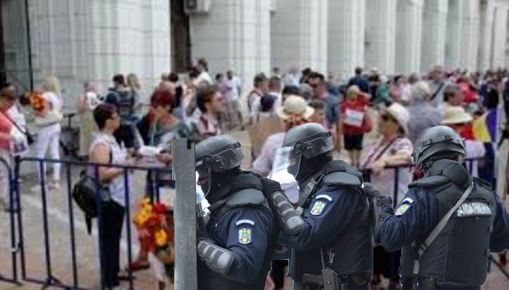 Măcel la mitingul pro-Jandarmerie: Zeci de jandarmi leșinați după ce protestatarii au început să scape gaze!