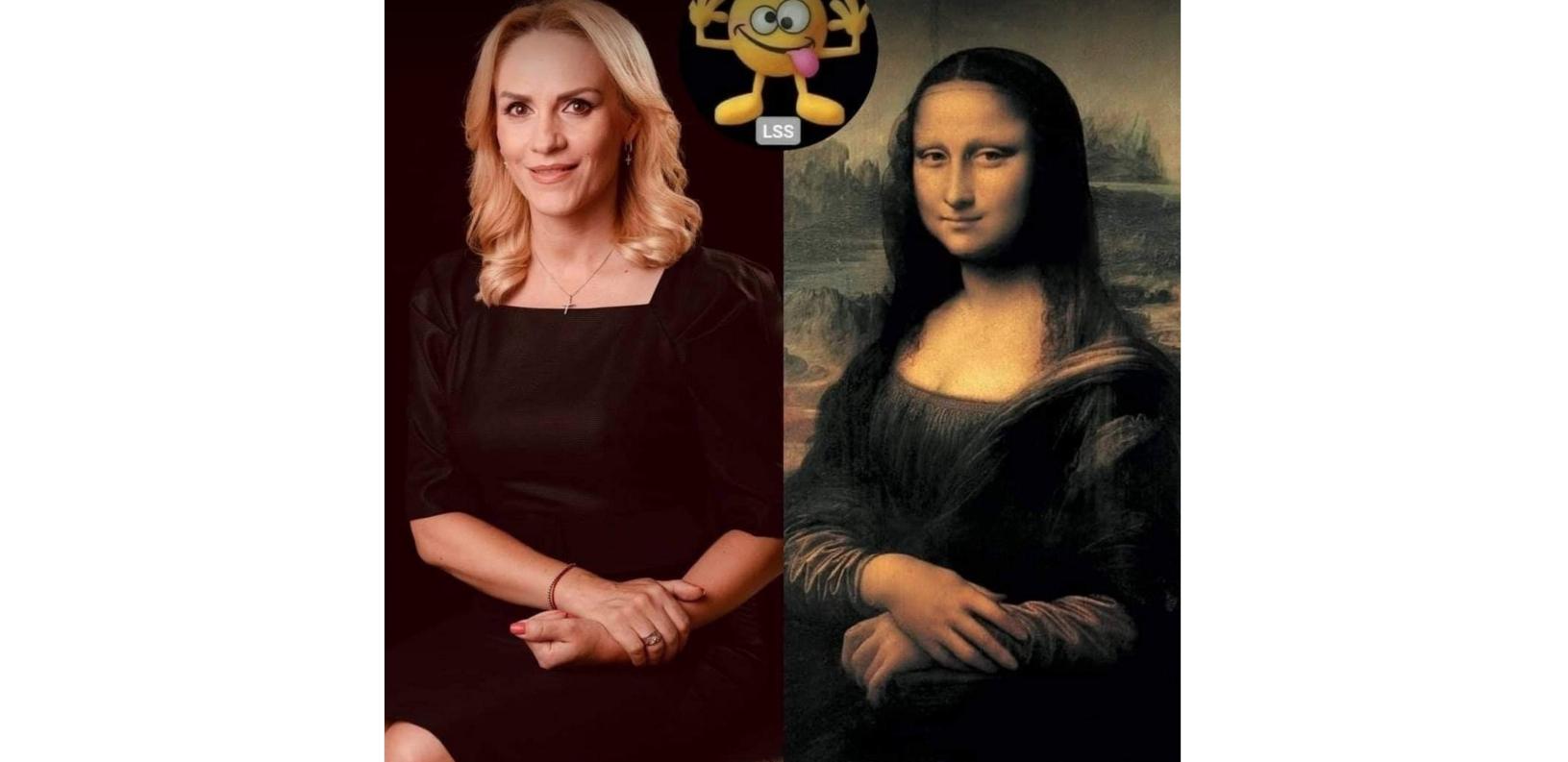 Mona Lița-n kur. Din orice unghhi o priveşti, i se vede sârma!