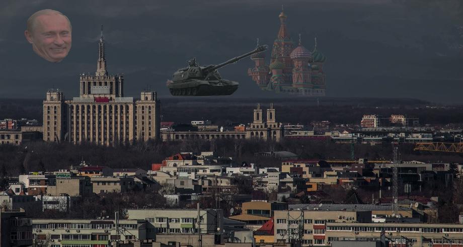 E atât de senin în București încât se văd tancurile rusești!