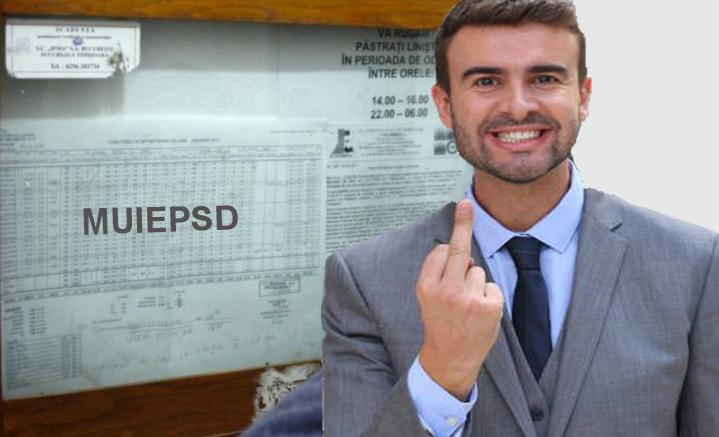 Dacă scrii M…PSD la întreținere, vine PSD-ul și ți-o plătește, ca să se șteargă!