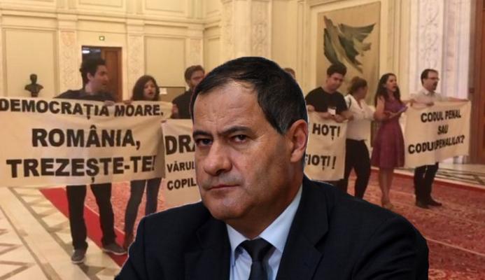 """Marian Neacșu, PSD: """"Într-o țară normală, protestatarii erau luați cu duba"""". Fals! Într-o țară normală, tu erai în pușcărie, infractorule!"""