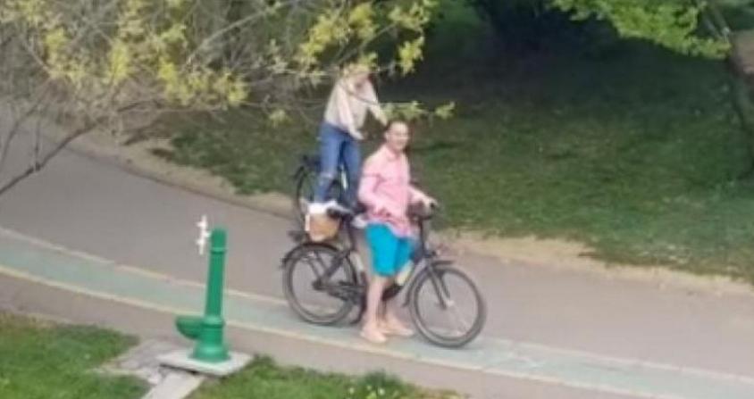Negoiță şi iubita au fost mendați cu câte 10.000 de lei:el pentru că a ieşit cu bicicleta în parc şi ea pentru că boul nu e animal de companie!