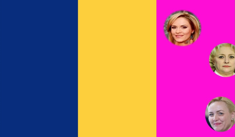 PSD modifică drapelul național:roșul va fi înlocuit cu rozul sângelui vărsat de pițipoance pentru a fi numite în funcții!