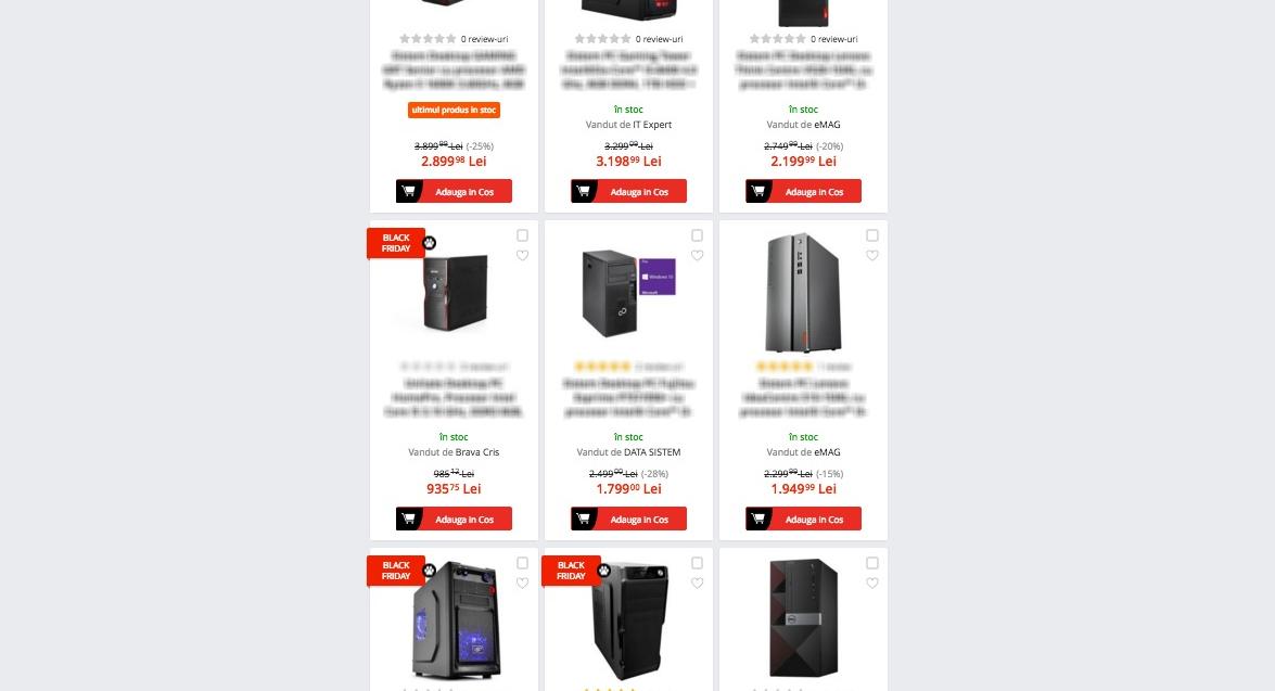 BlackFraierday: desktop de 1600 de lei, dat la reducere cu 1900! Grăbiți-vă, luna viitoare va fi iar 1600!