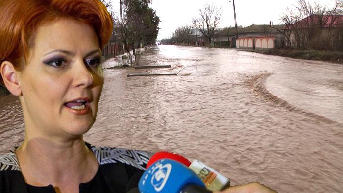 Olguța cere Jandarmeriei să pună tunurile cu apă pe inundații!