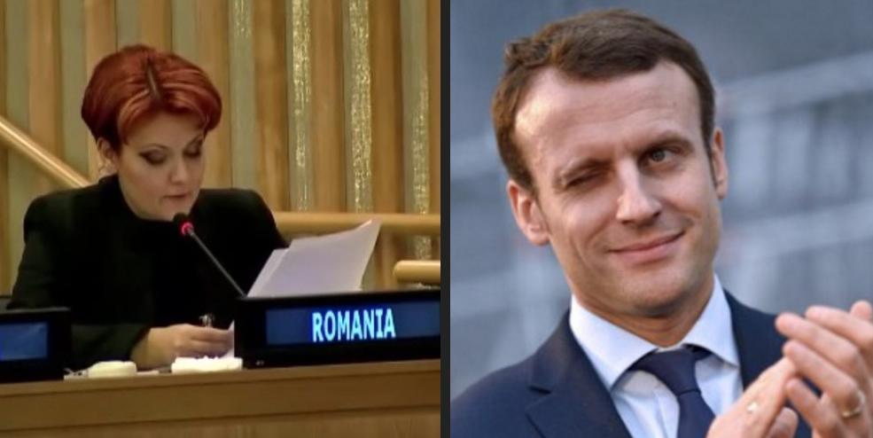 Macron a propus-o pe Olguța premier al Franței, datorită cunoștințelor de limba franceză!