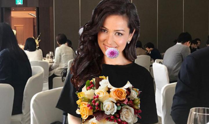 Momente de groază la o nuntă din București: Olivia Steer a prins buchetul și l-a mâncat!