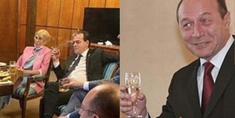 Băse se cerela guvernare după ce a văzut poza cu Orban bând şi fumând în birou!