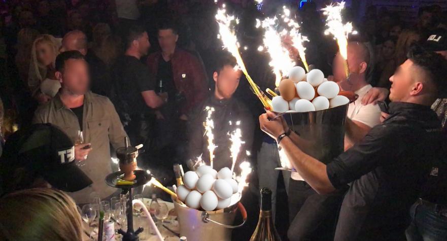 Ultima fiță la LOFT: în loc de șampanie, cocalarii comandă ouă cu artifică!