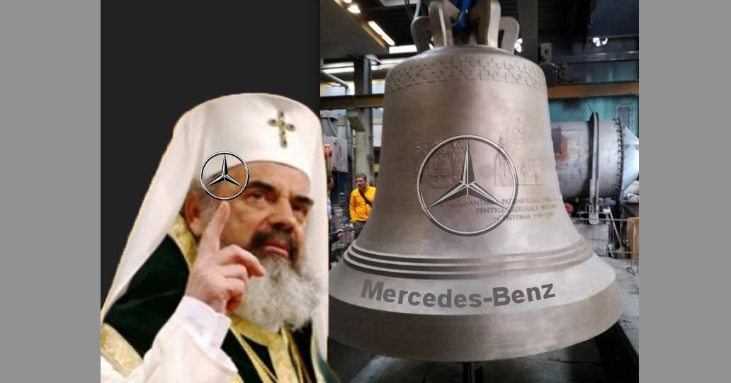 După ce a văzut pe ce a spart ÎPS Daniel 500.000 de euro, Mercedes a anunțat că va face și clopote!