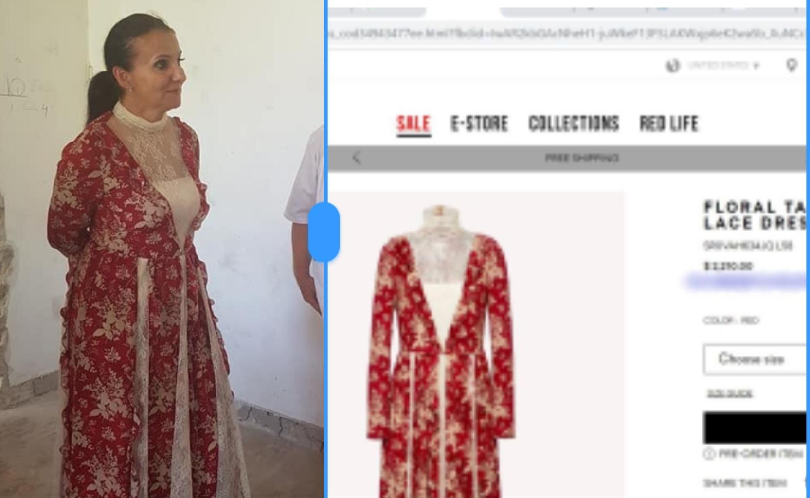 Sorina Pintea într-o rochie Valentino de 2.200 de dolari, acum câteva luni, când n-avea nici pe dracu. Luați-i o geantă de la Hermes şi îşi revine!