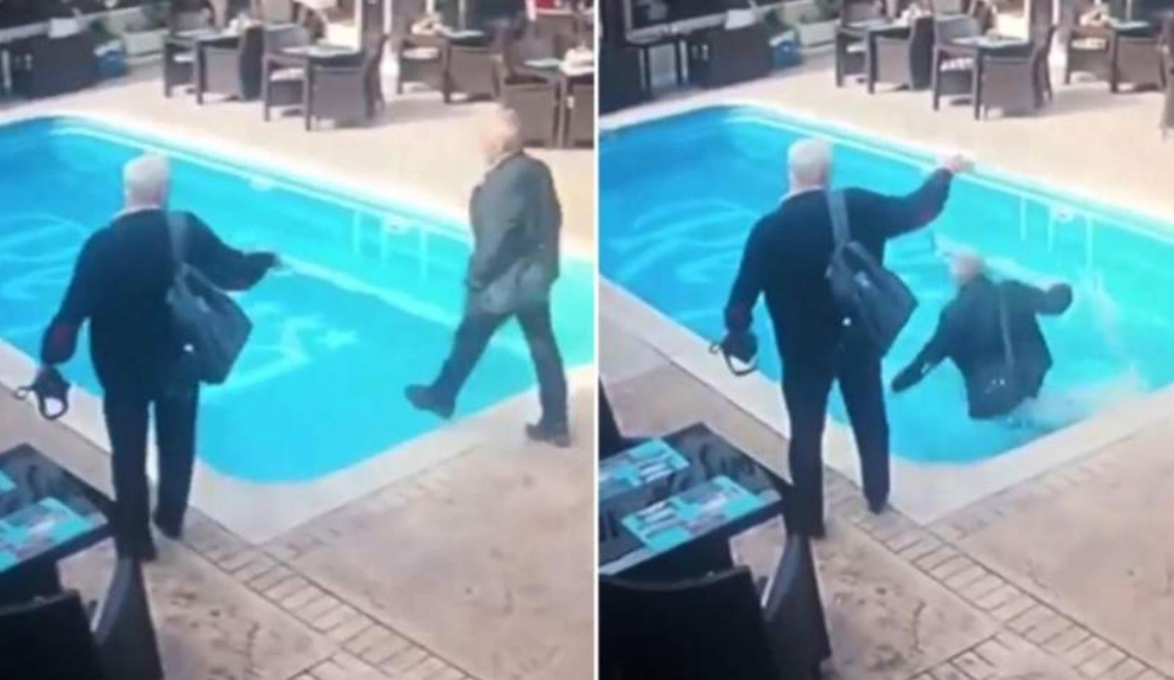 Un inspector ANAF a căzut în piscina unui hotel din Constanța. Văzuse 50 de bani pe fund!