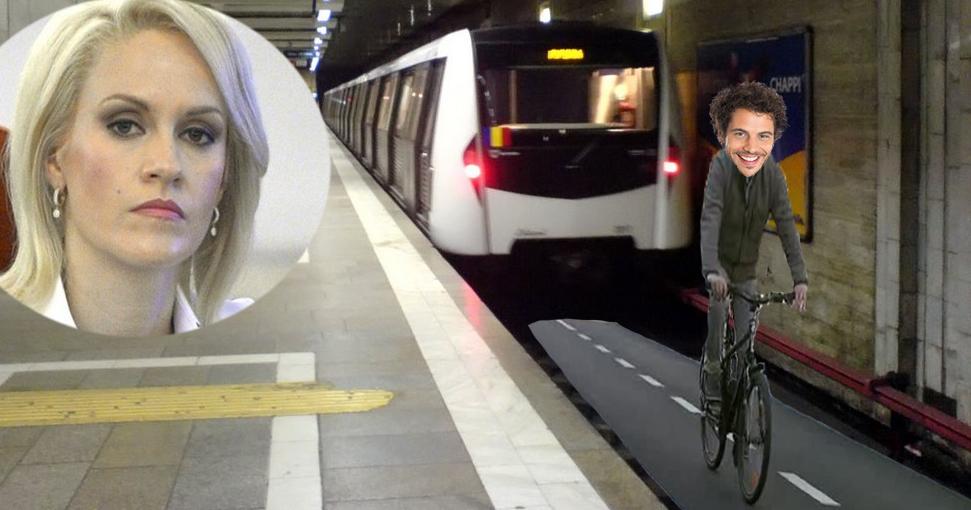 Pentru fluidizarea traficului, Firea va amenaja piste de bicicletăpe liniile de metrou!