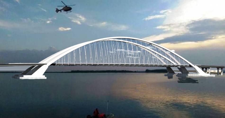 Savanții din Caracal au construit un pod de-a lungul râului Olt!!!