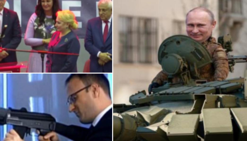 După Viorica cu sabia și Cumpănașu cu mitraliera, urmează să apară și șeful lor de campanie, Putin, cu tancul!
