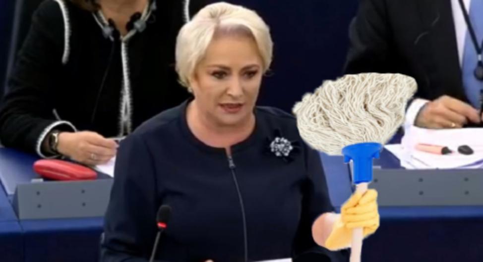 Viorica Dăncilă va merge la dezbaterea lui Iohannis, dar la final, când e nevoie de mop