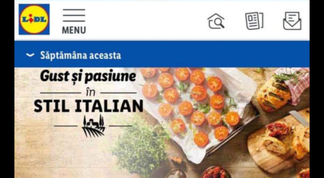 La Lidl e săptămâna italiană!