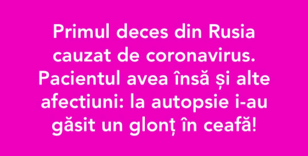 #rusia nu crede în corona