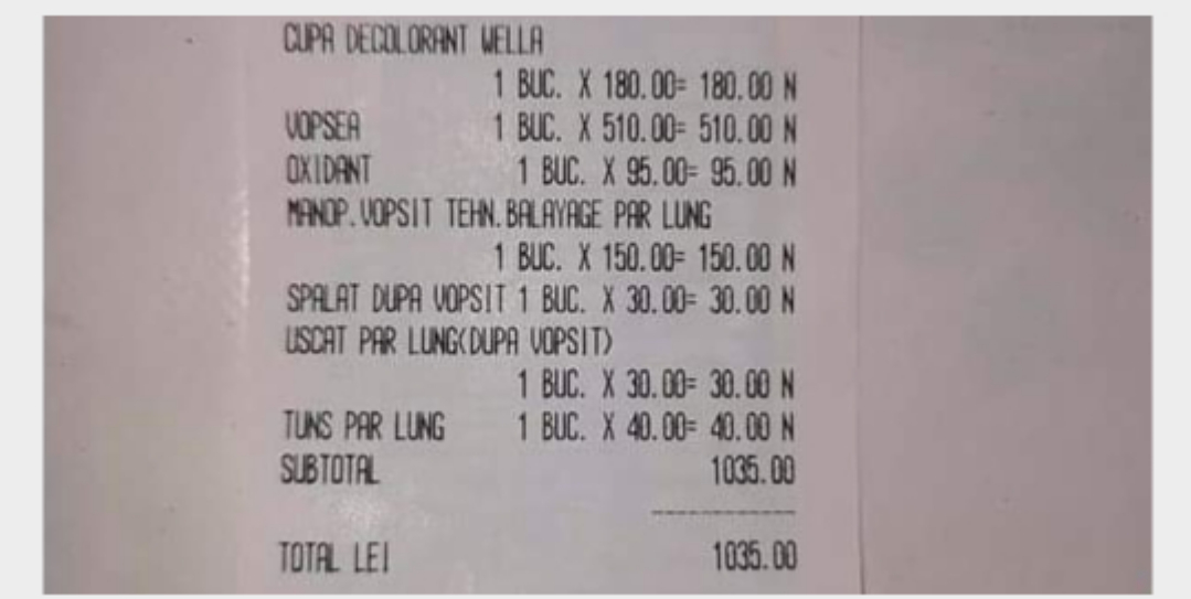 O femeie a plătit peste 1.000 de lei pentru a-și vopsi părul la un salon din Botoșani. La banii ăștia își lua un cap nou, mai deștept!